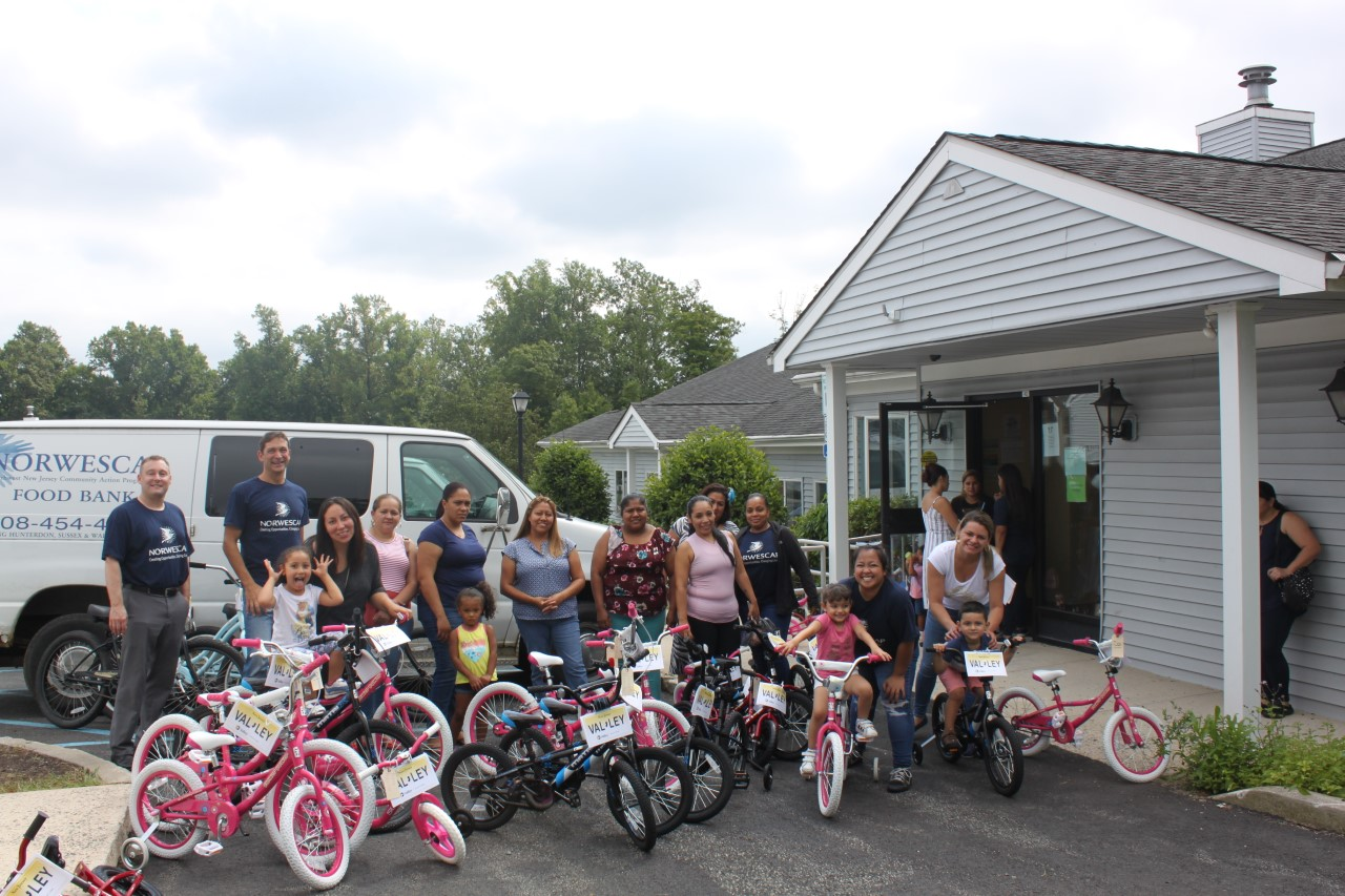 Valley partnered with the Housing and Community Development Network and its community development members to build and donate bikes.
