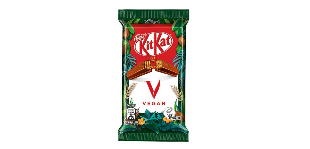 Nestlé says its vegan chocolate KitKat version will hit U.K. stores later this year.