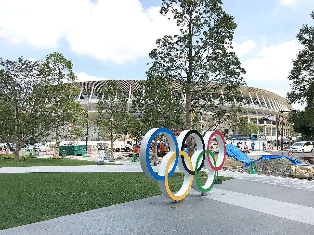 New National Stadium, site of the Tokyo Olympics opening and closing ceremonies, as well as track and field competitions