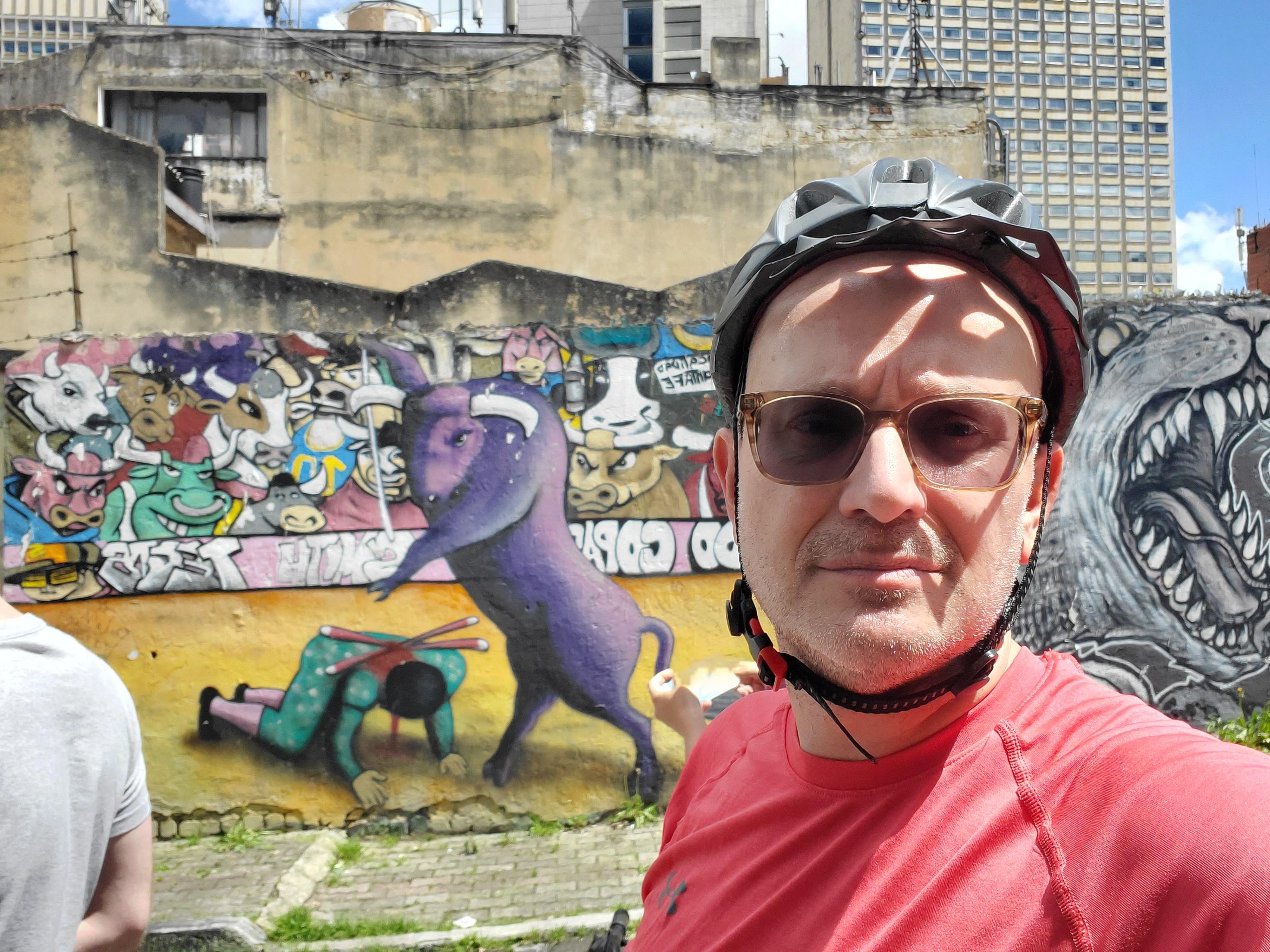No shortage of edgy murals in La Candalaria, Bogotá