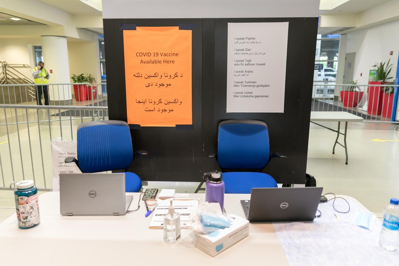 COVID-19 Vaccine Clinic in Airport