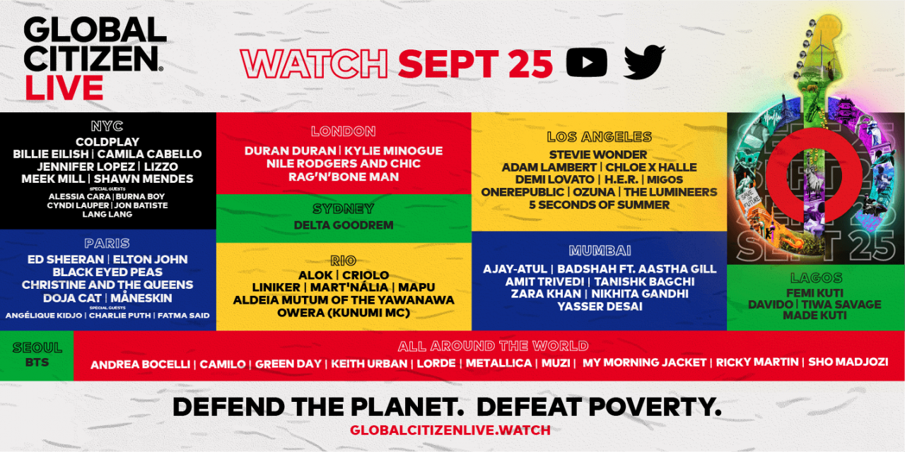Global Citizen LIVE Banner image