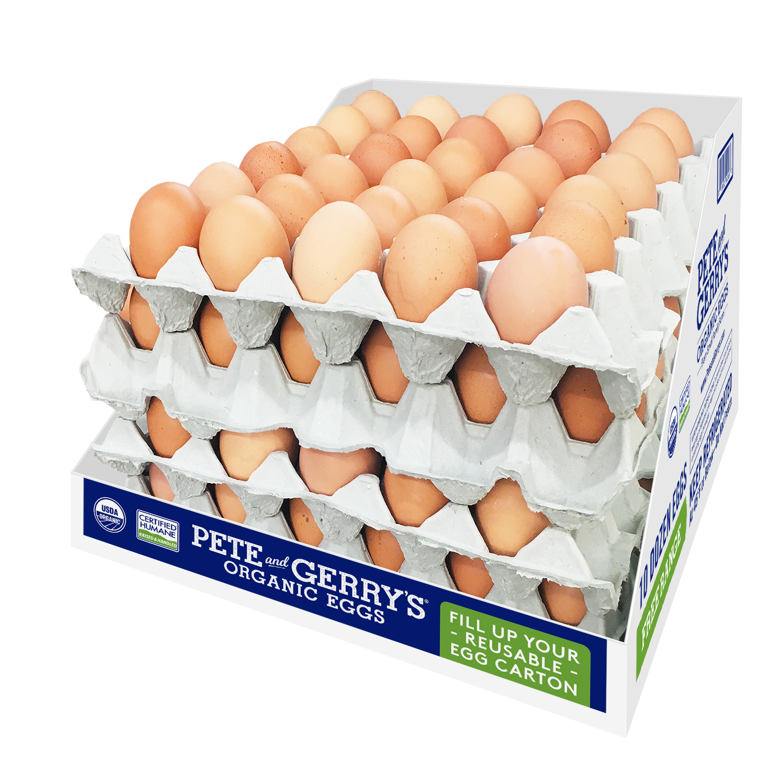 sustainable packaging Pete & Gerry's reusable egg carton program