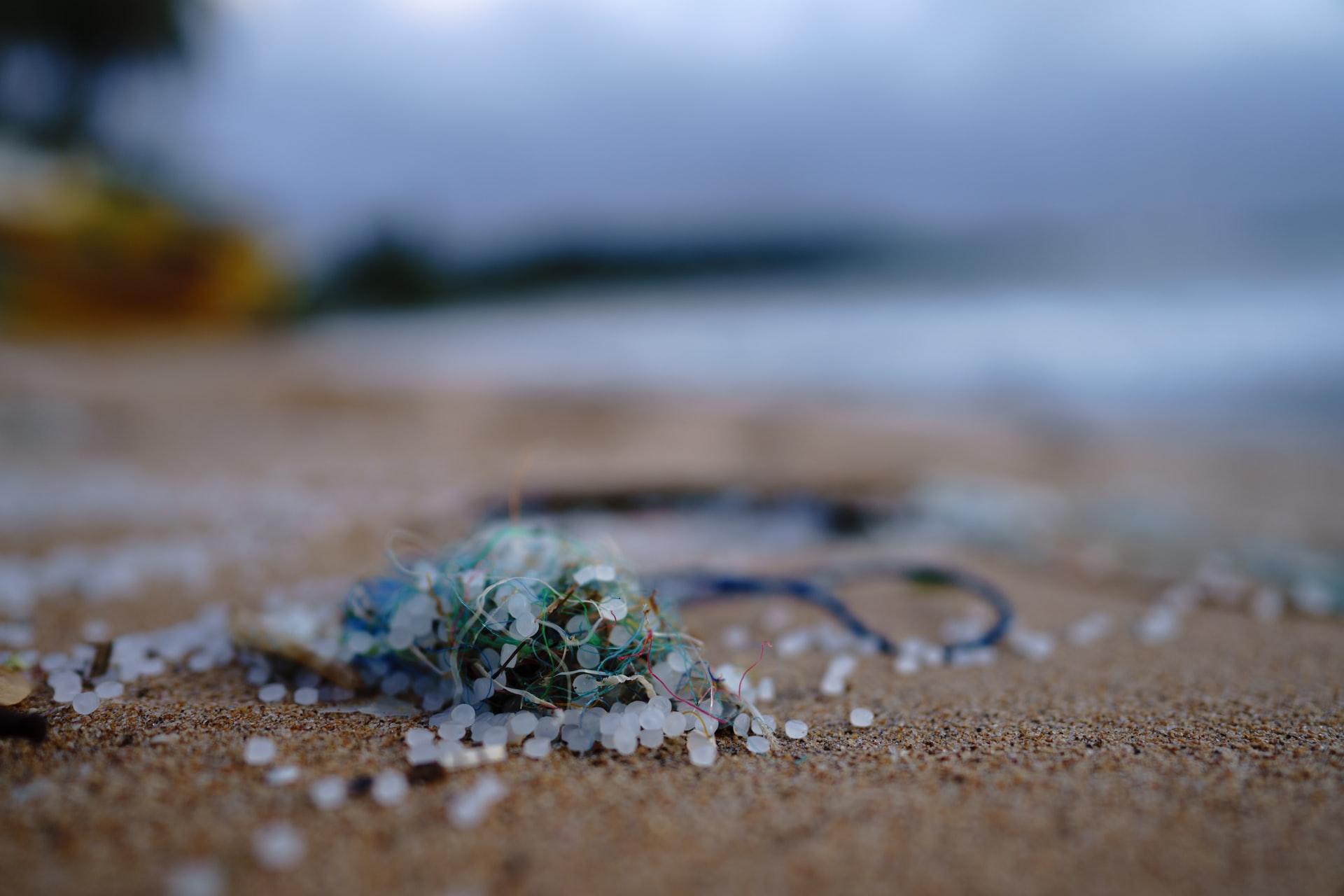 Plastic pellets found on the shore at Marissa, Sri Lanka, late May 2021