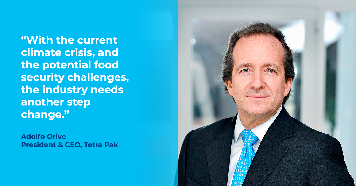 Quote from President and CEO, Tetra Pak