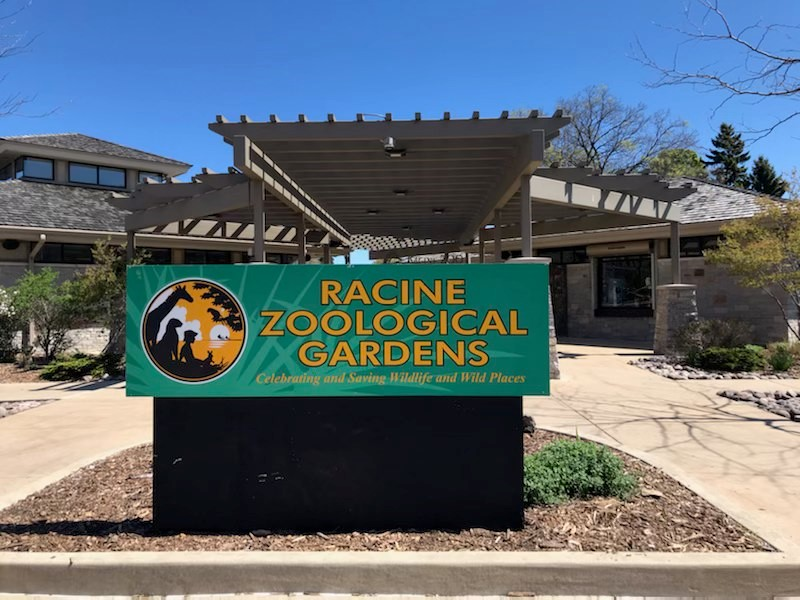 Racine Zoological Gardens front entrance