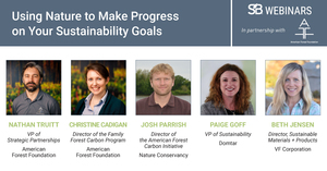 'Using Nature to Make Progress on Your Sustainability Goals' Panelists