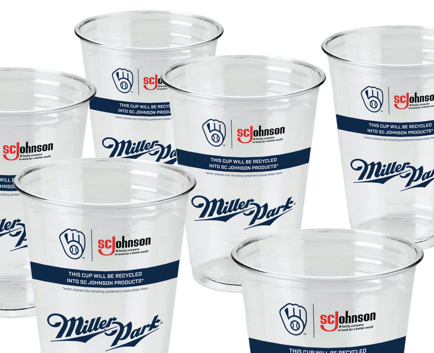 SC Johnson Milwaukee Brewers recycled plastic cups