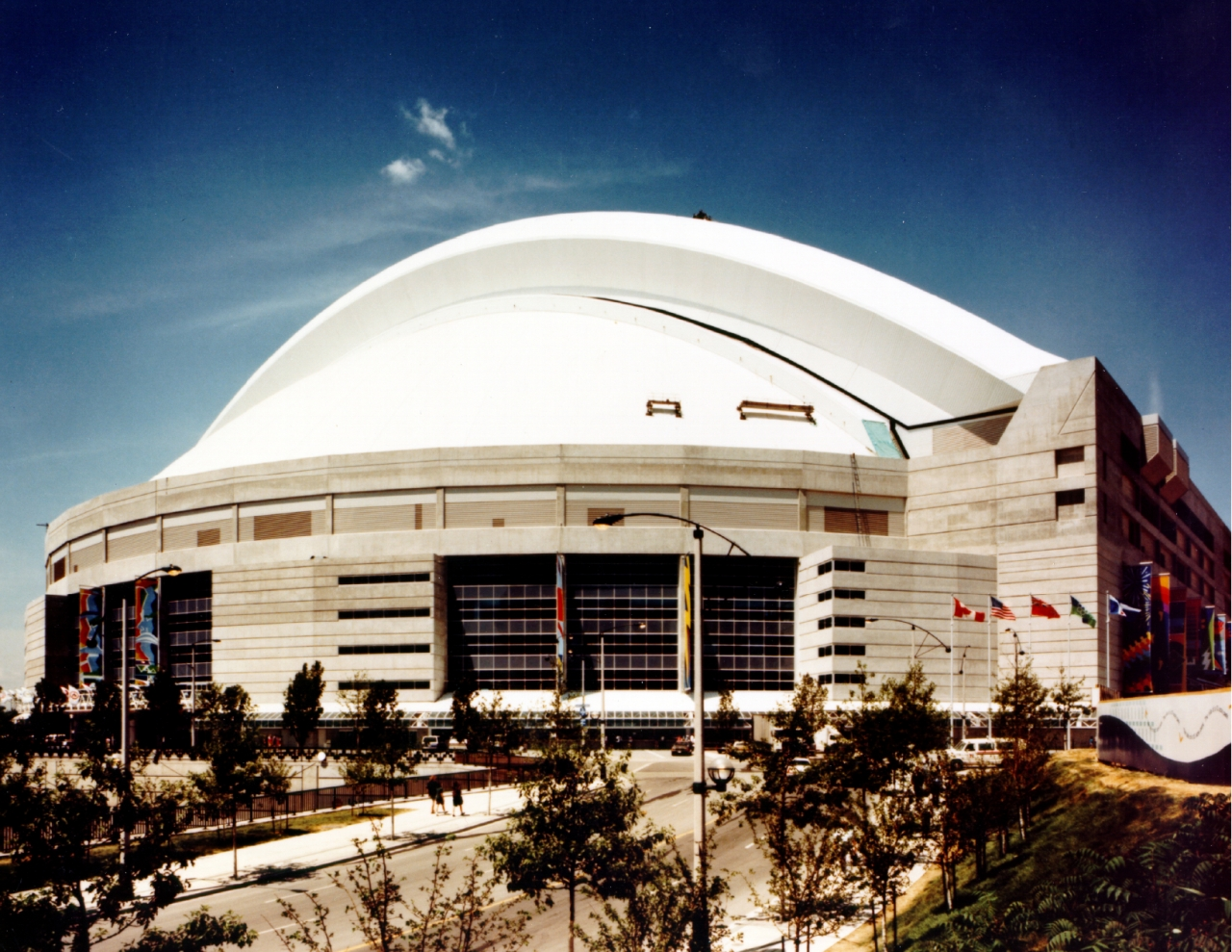 The Rogers Centre featuring Sika's retracting PVC roof.