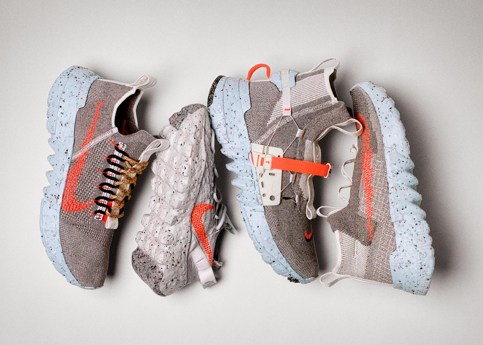 """These """"Space Hippie"""" shoes from Nike are made from scrap material from factory floors."""