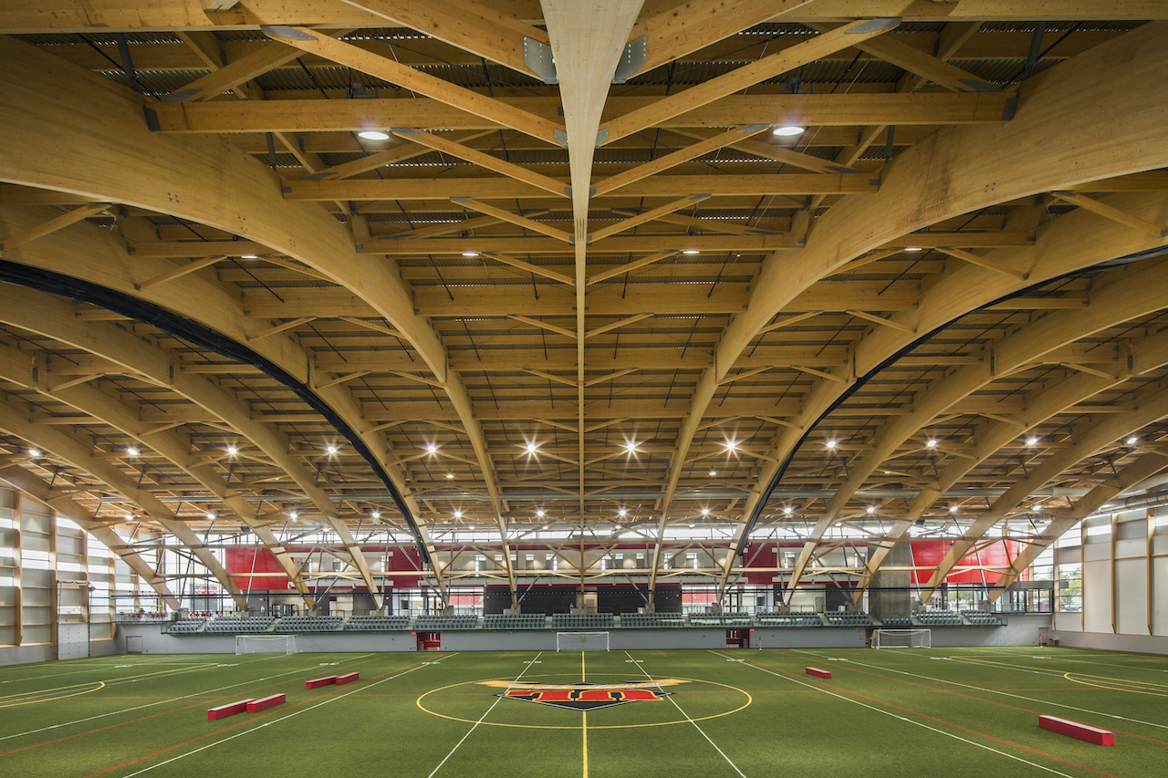 Stade Telus is a 97,000-square foot sports facility at Laval University
