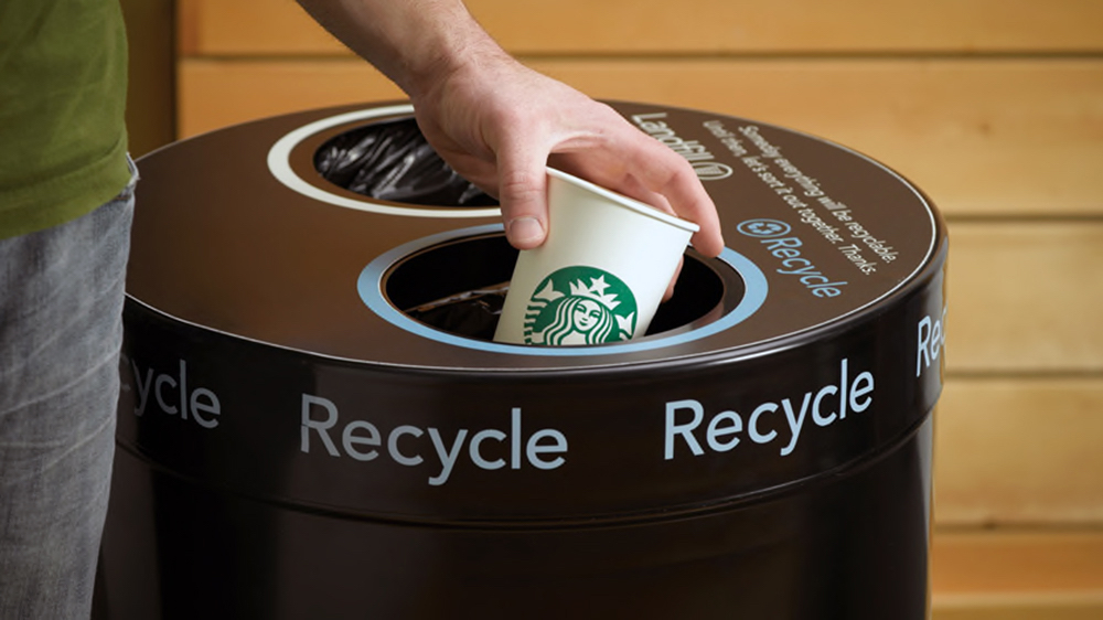 Starbucks waste and recycling goals