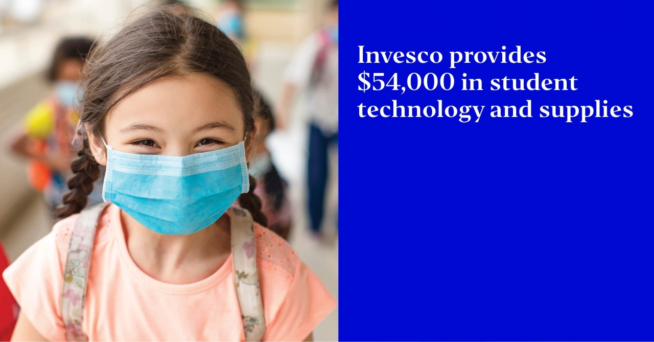 Invesco provides $54,000 in student technology and supplies