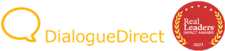 DialogueDirect logo and Real Leaders logo