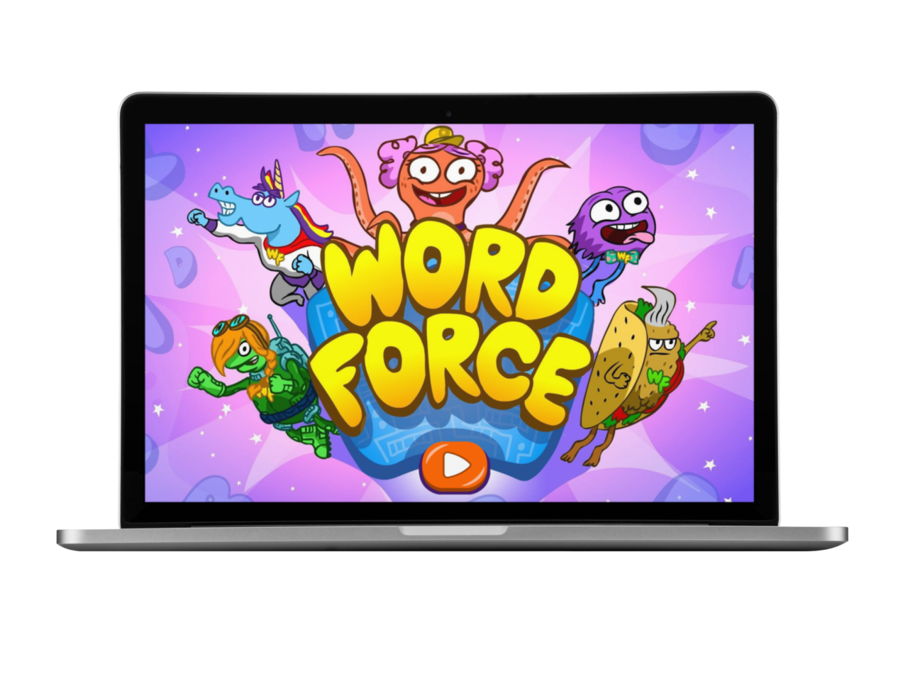 Word Force on a laptop computer