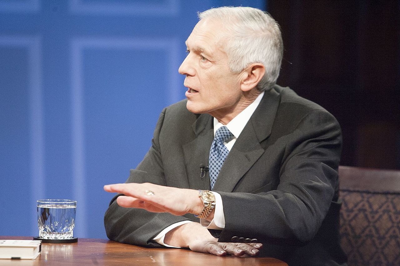 Wesley Clark, who now often speaks about climate change risks, at a 2015 event (Image credit: Miller Center/Wiki Commons)