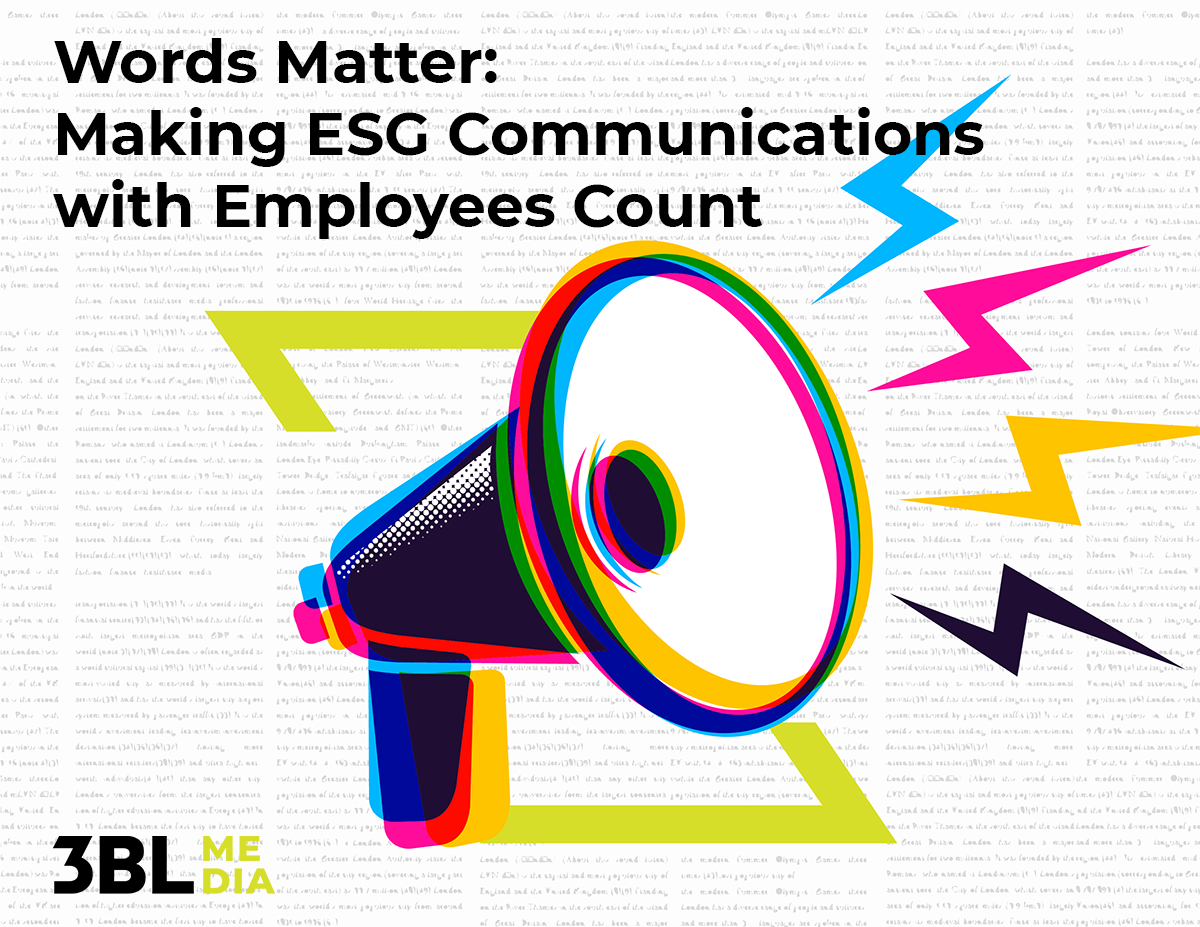 Words Matter: Making ESG Communications With Employees Count Poster