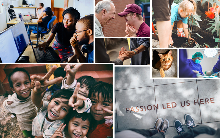 Collage of photos of Employee Engagement and Participation
