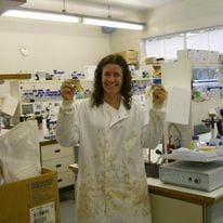Alison Isherwood in the lab.