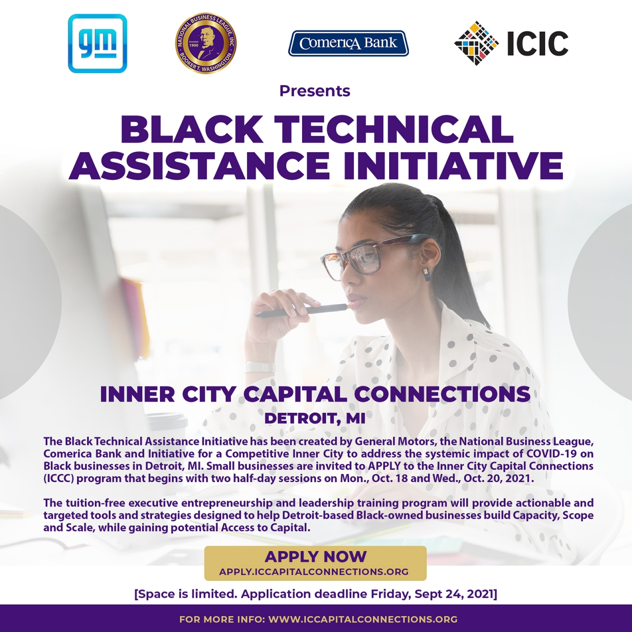 Flyer reads: Black Technical Assistance Initiative
