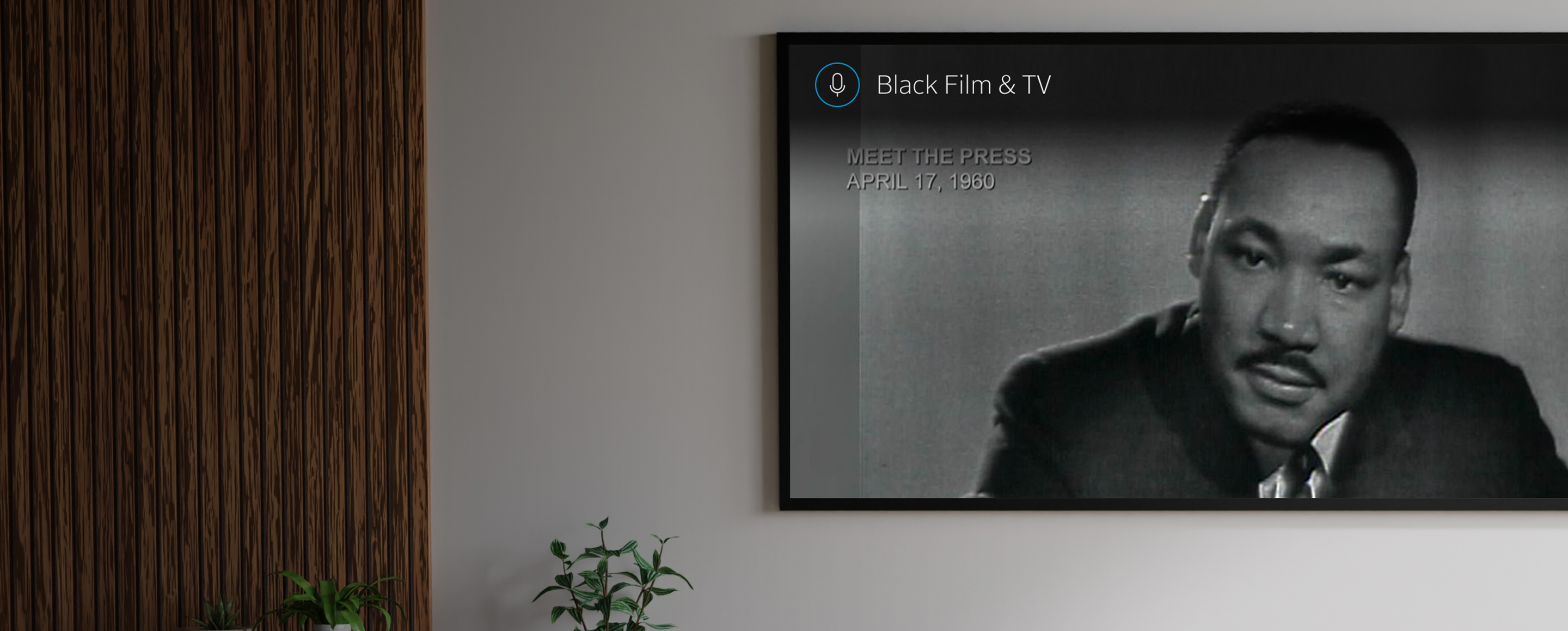 Television with Dr. Martin Luther King, Jr. on it