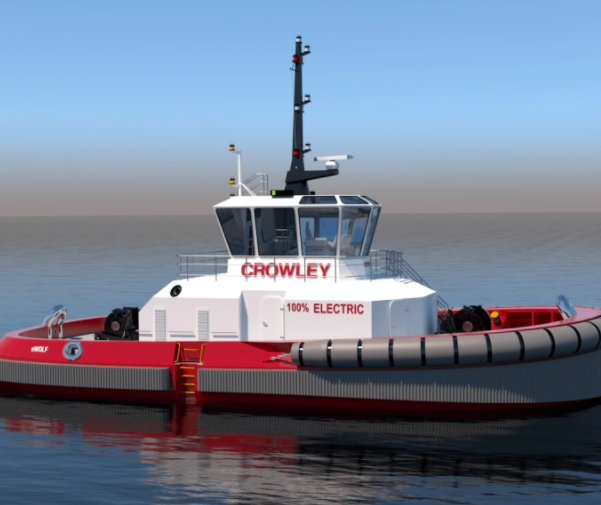 The Crowley all-electric work is slated to work in the Port of San Diego in 2023.