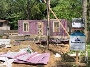 Start of Habitat for Humanity house
