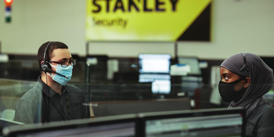 Employees at STANLEY Security's Minneapolis Monitoring Center.