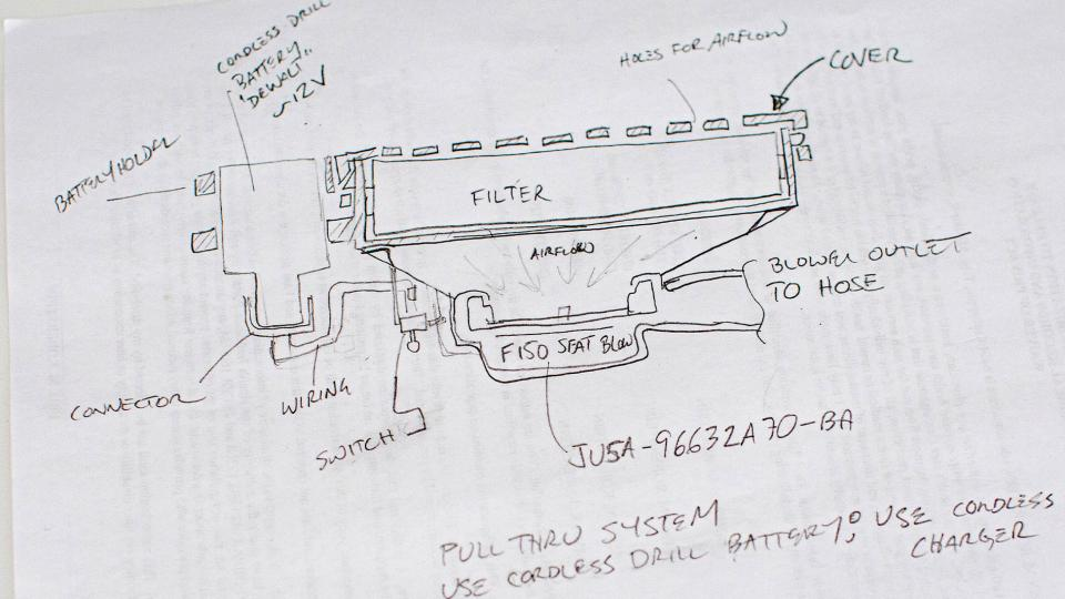 Ford and 3M's PAPR Design, including a Stanley Black & Decker cordless battery.