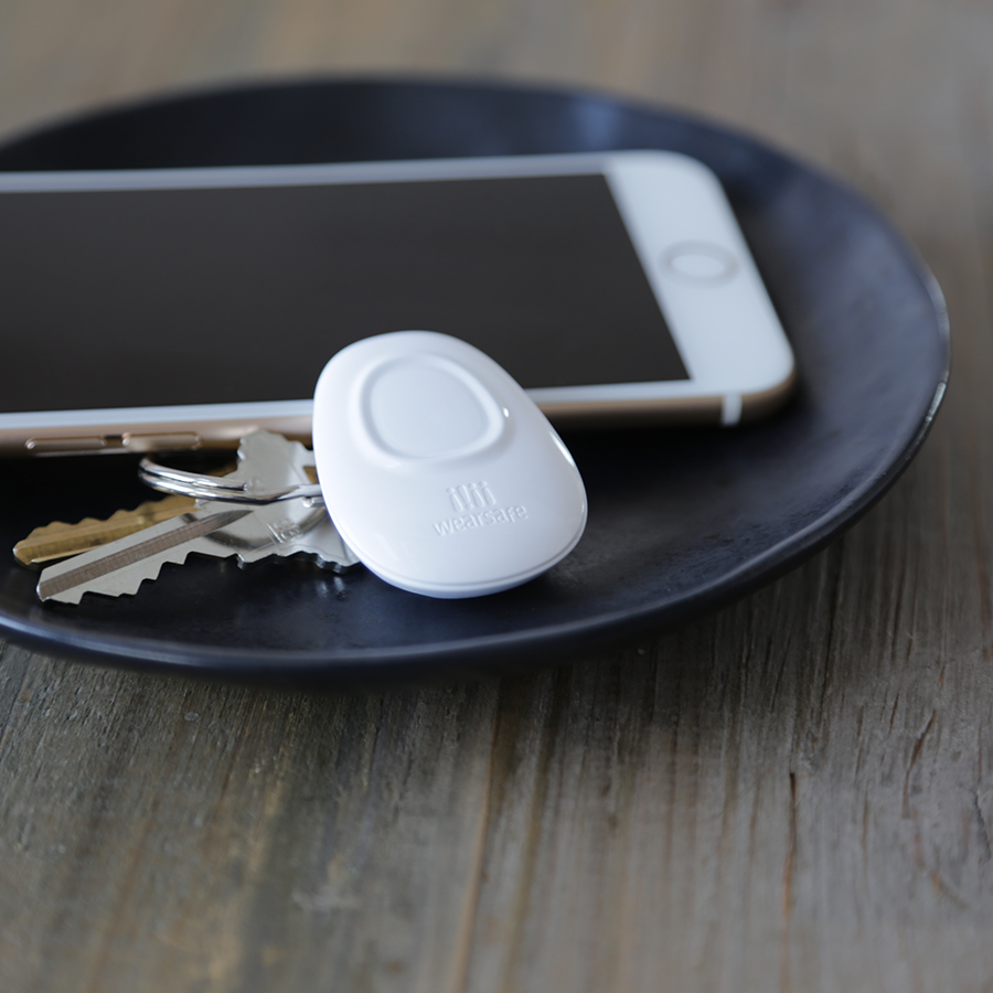 The Wearsafe Tag is small and discrete making it simple to use without calling attention to a situation.