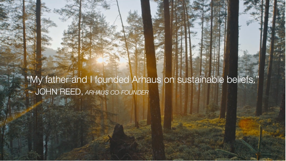 Arhaus quote over picture of the forest