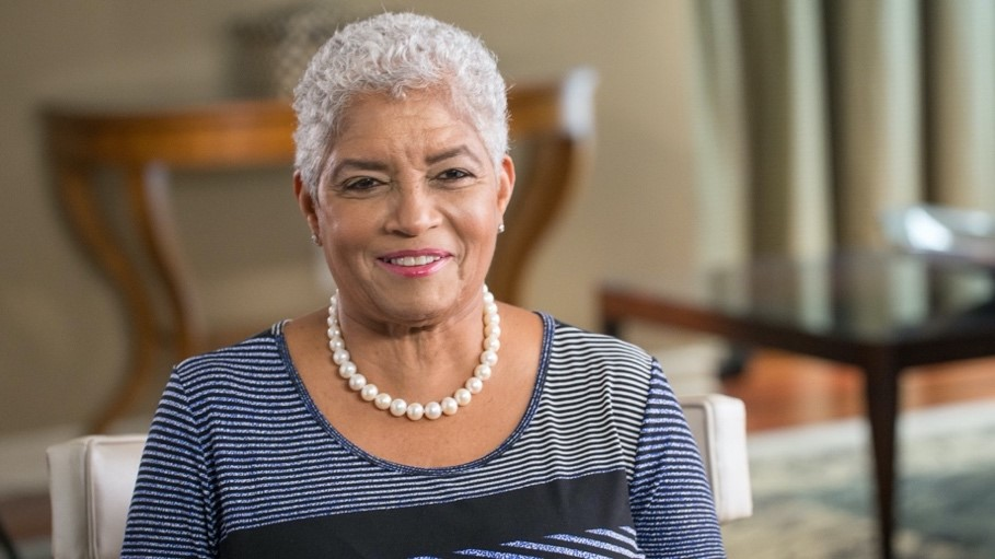 Former Atlanta Mayor Shirley Franklin at a 2018 Voices of the Civil Rights Movement interview recording in Atlanta.