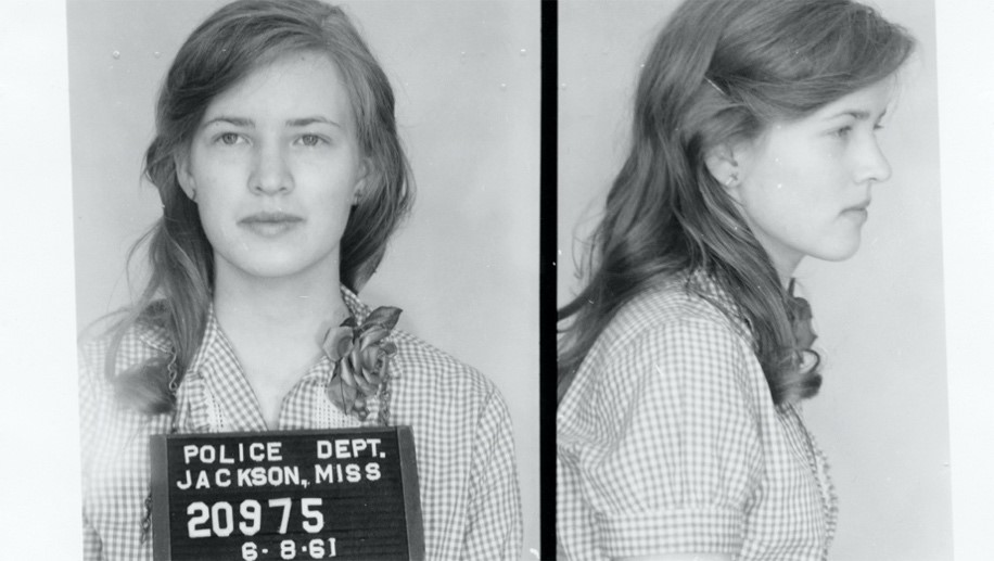 Joan Trumpauer Mulholland, 19, following her 1961 arrest for protesting. (AP/Mississippi Department of Archives and History, City of Jackson)