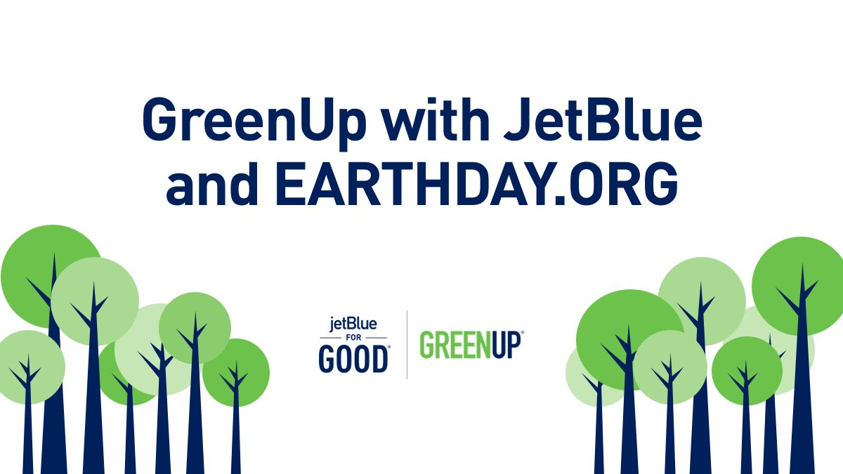 JetBlue EARTH day Graphic