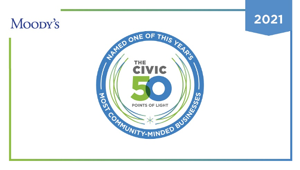 Moody's Named to the Civic 50