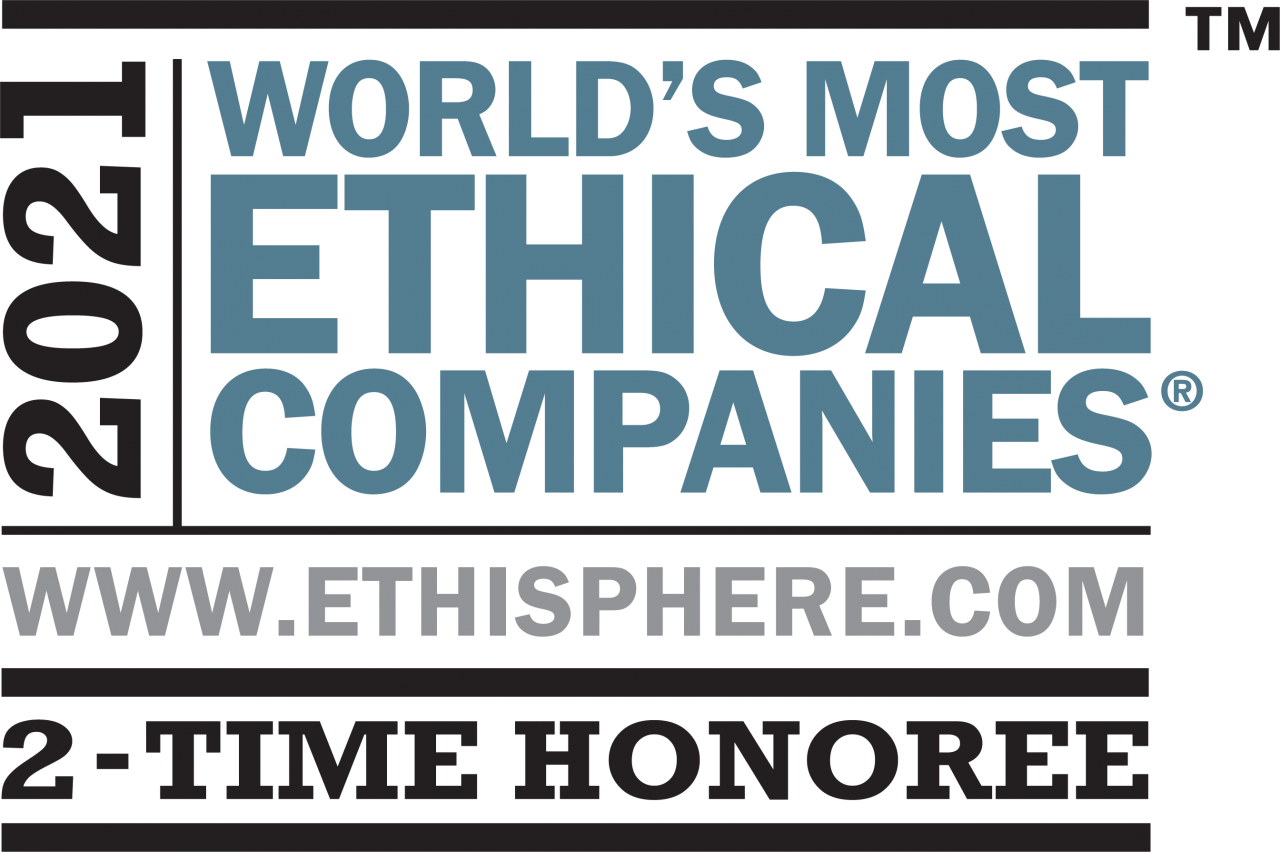 2021 world's most ethical companies logo