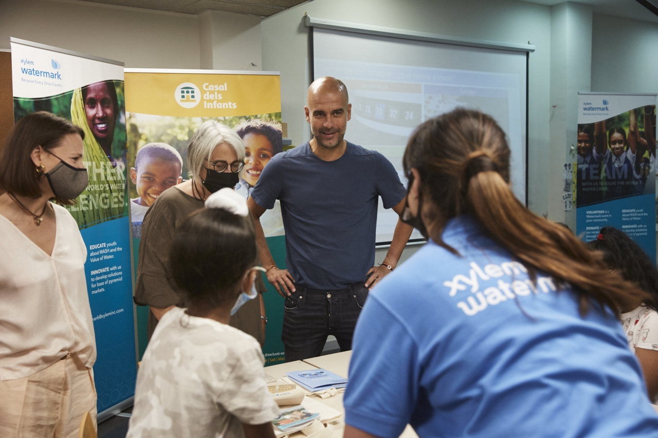 Pep & Pere Guardiola, EarthEcho International and Xylem Host First In Series Of Water Education Events