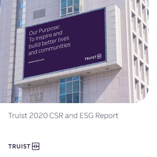 Truist ESG report cover 2020
