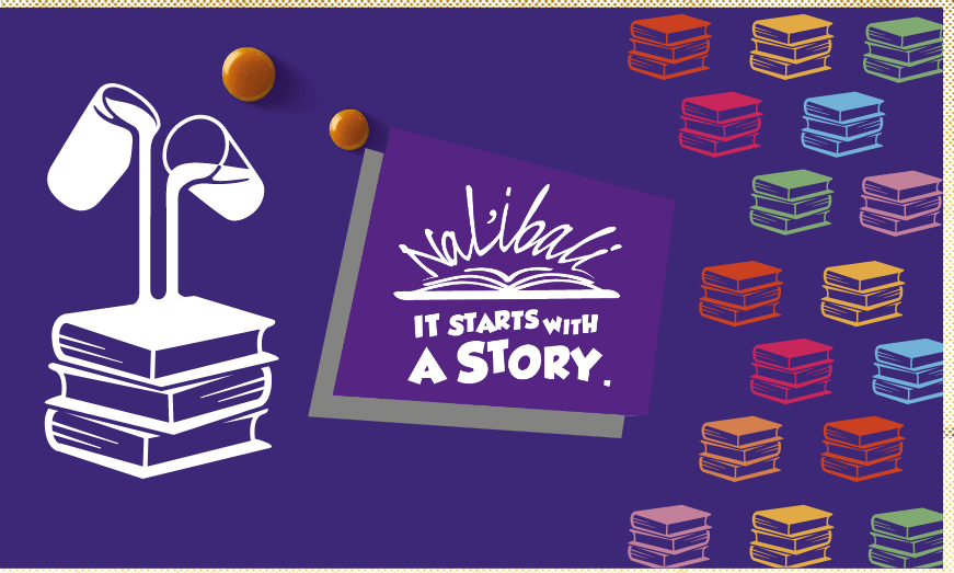 graphic reads: it starts with a story