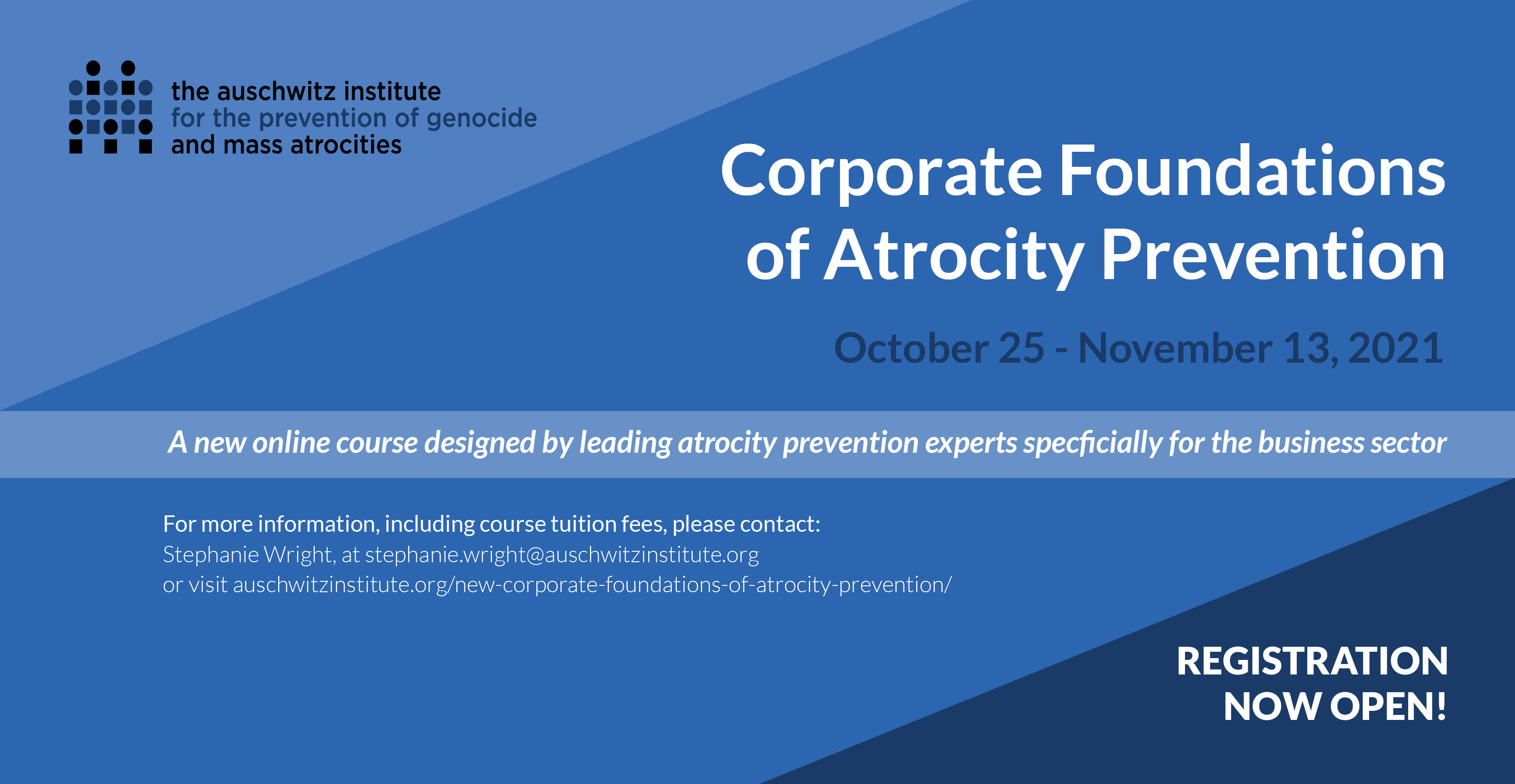 Infographic reads: Corporate Foundations of Atrocity Prevention