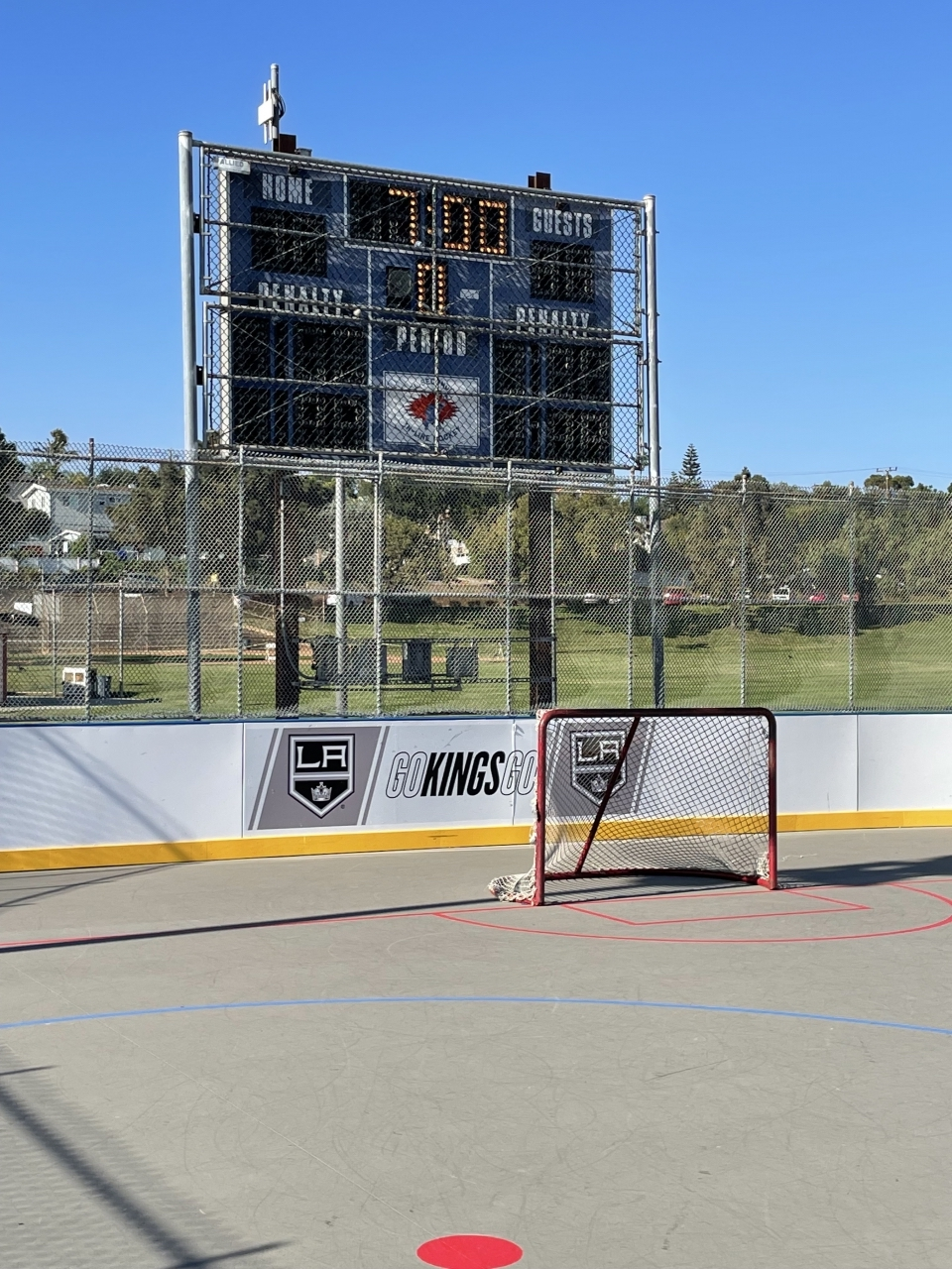 AEG's LA Kings and the City of El Segundo unveil the city's newly completed roller hockey rink made in partnership with the Kings and a $75,000 on August 26, 2021.