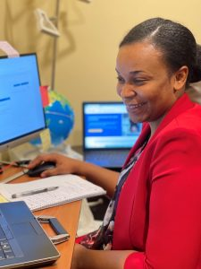 Marie Kamga, cybersecurity intern and Cisco Networking Academy alumna