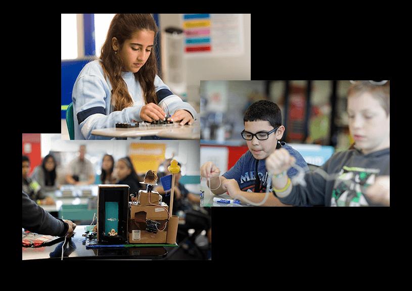 Children in STEM classes