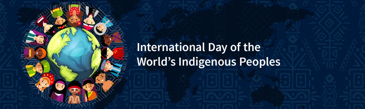 International Indigenous peoples day banner