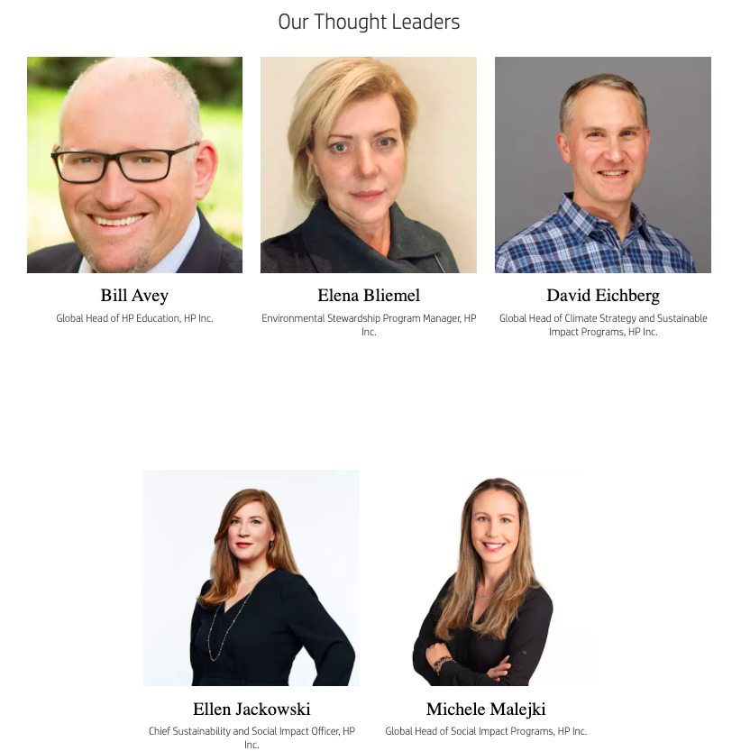 HP inc Thought leaders