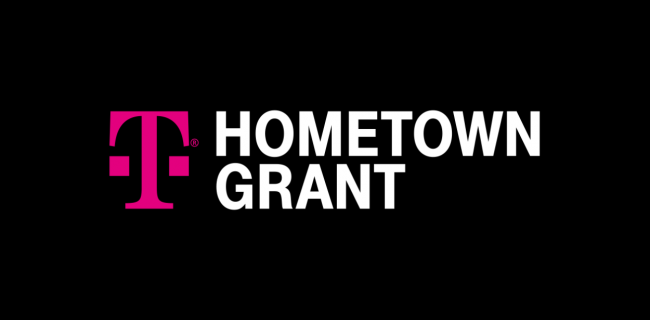 Graphic reads: T-mobile Hometown Grant