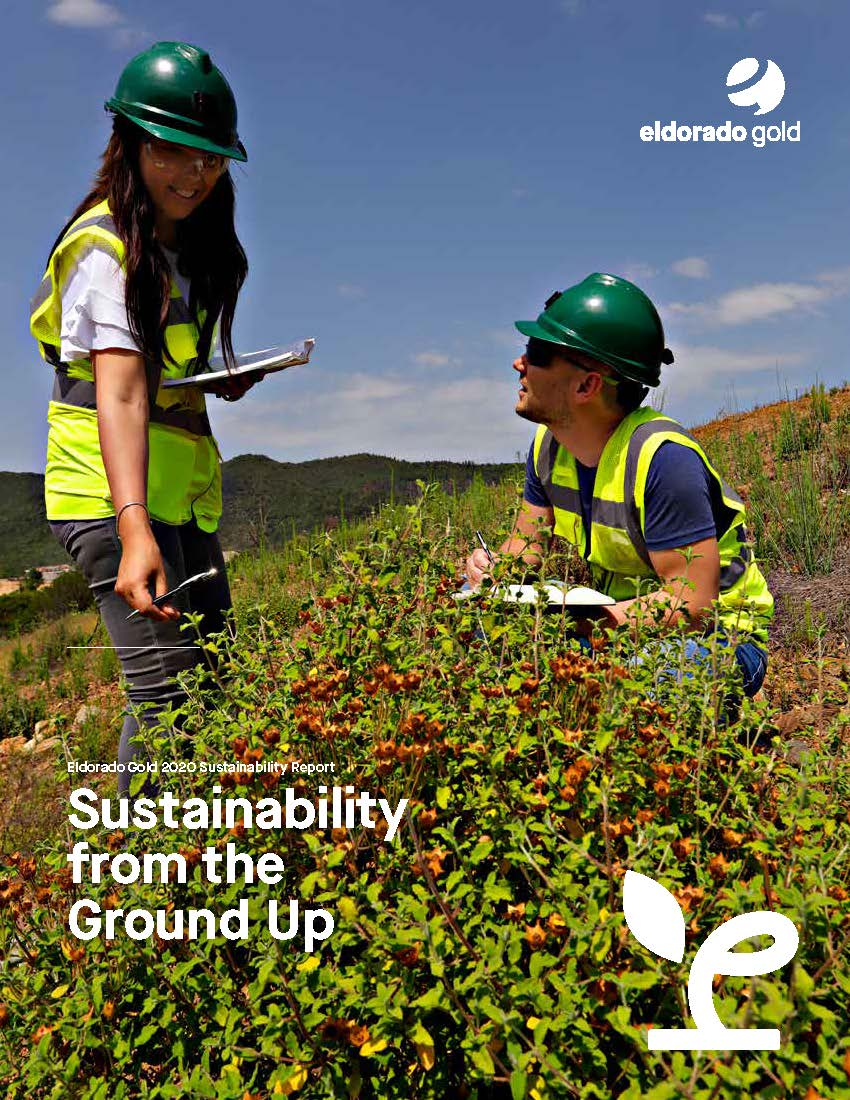 Sustainability report cover Eldorado Gold 2020