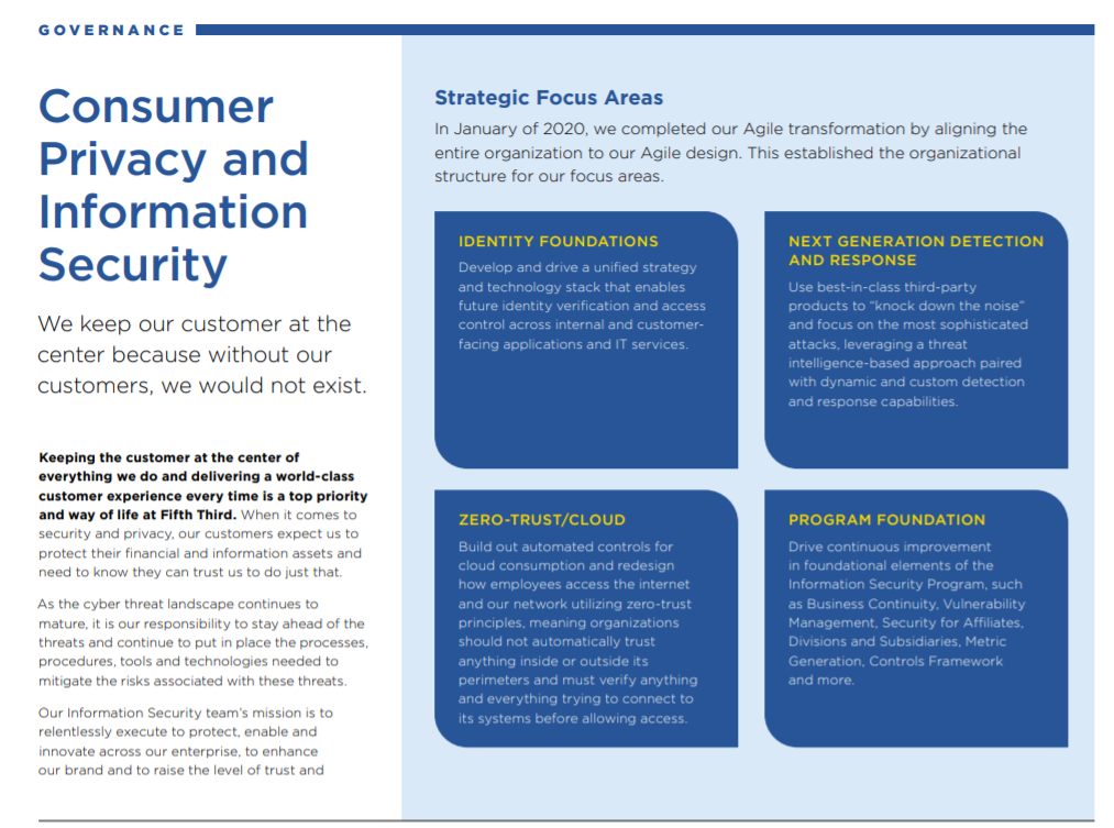Infographic reads: Consumer privacy and information security