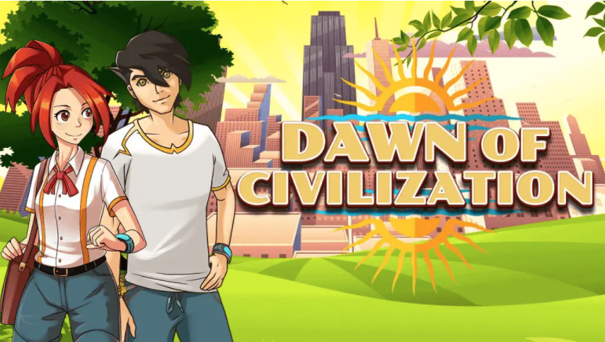 Video game graphics, image reads: Dawn of Civilization