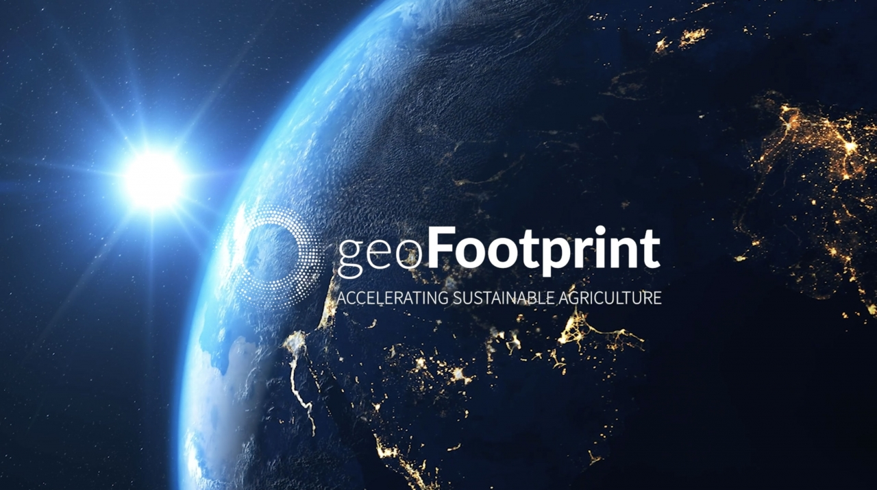Image of the earth with geoFootprint logo